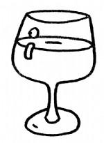 酒杯简笔画、儿歌与知识