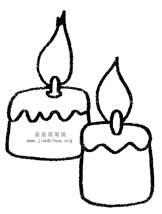 蜡烛简笔画,儿歌与知识