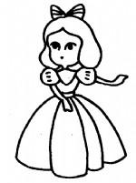 白雪公主简笔画、儿歌与知识