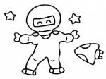 宇航员简笔画、儿歌与知识