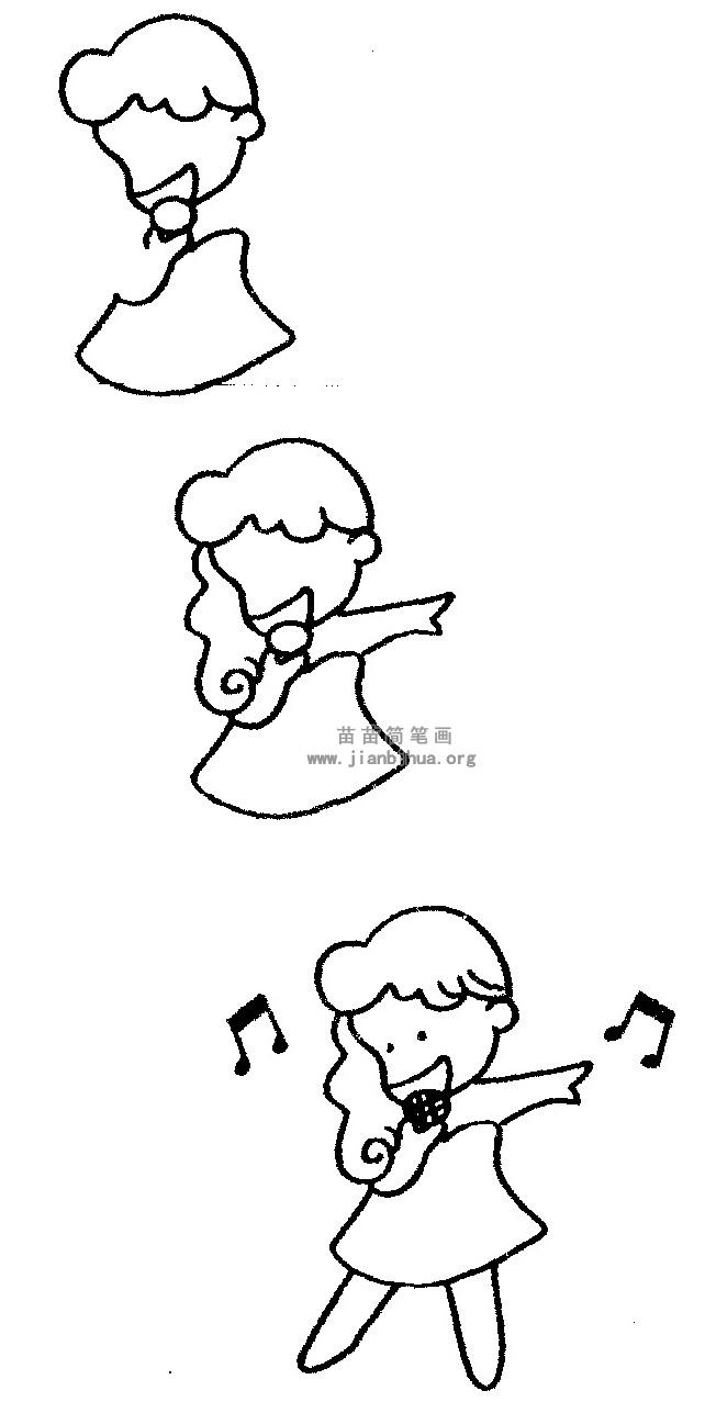 唱歌简笔画 儿歌与知识