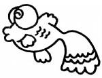 金鱼简笔画、儿歌与知识