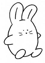 卡通兔子简笔画、儿歌与知识