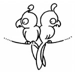 鹦鹉简笔画、儿歌与知识