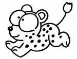 卡通豹子简笔画、儿歌与知识