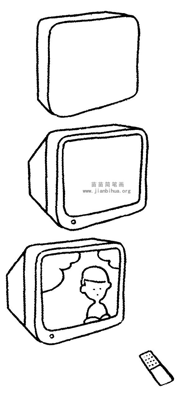 电视机简笔画 儿歌与知识
