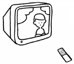 电视机简笔画、儿歌与知识