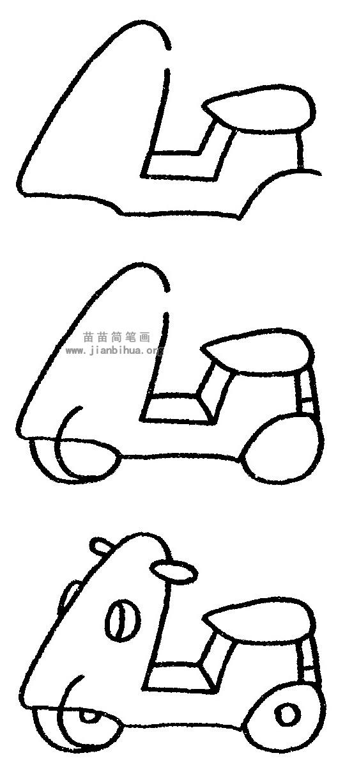 摩托车简笔画