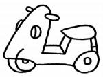 摩托车简笔画、儿歌与知识