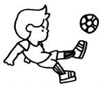 踢足球简笔画、儿歌与知识