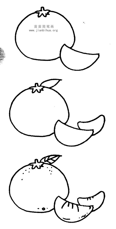橘子简笔画 儿歌与知识