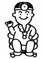 医生简笔画、儿歌与知识