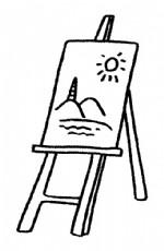 画架简笔画、儿歌与知识