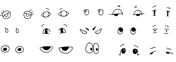 眼睛是人物表情表现的关键哦,加上眉毛表情会更清晰.图片