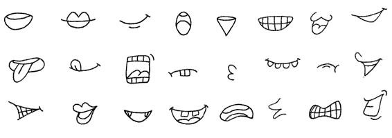 除了眼睛,嘴巴是最能够表现人物表情的了.图片