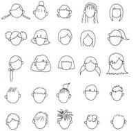 发型怎么画简笔画图解