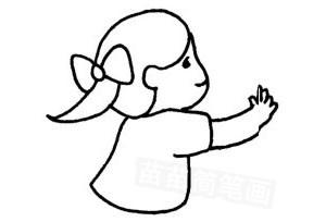 女孩怎么画简笔画图解
