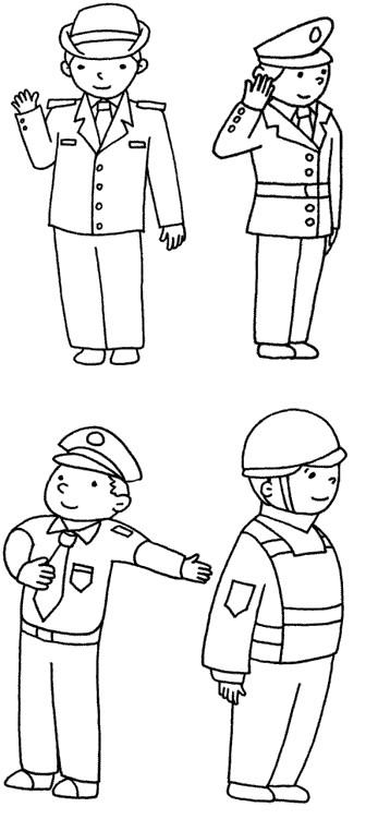警察怎么画简笔画图解
