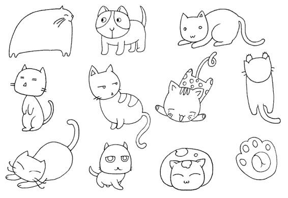 猫咪怎么画简笔画图解