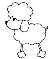 狗狗怎么画简笔画图解