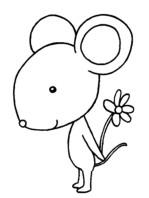 老鼠怎么画简笔画图解