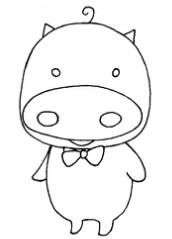 小猪怎么画简笔画图解