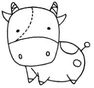 牛怎么画简笔画图解