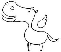 马怎么画简笔画图解
