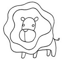 狮子怎么画简笔画图解