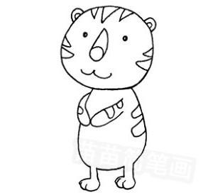 老虎怎么画简笔画图解