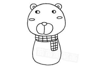 熊怎么画简笔画图解