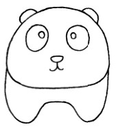 熊猫怎么画简笔画图解