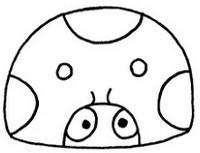 七星瓢虫怎么画简笔画图解