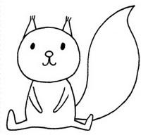松鼠怎么画简笔画图解