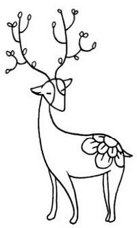 鹿怎么画简笔画图解