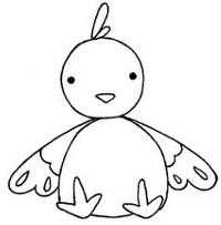 鸡怎么画简笔画图解