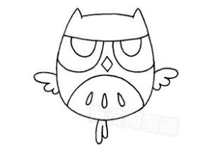 猫头鹰怎么画简笔画图解