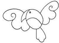 鹦鹉怎么画简笔画图解