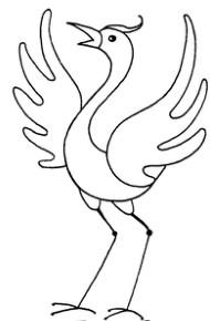 鹤怎么画简笔画图解