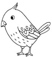 麻雀怎么画简笔画图解