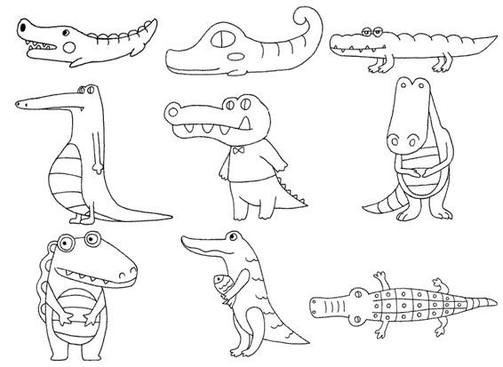 鳄鱼怎么画简笔画图解