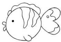 金鱼怎么画简笔画图解