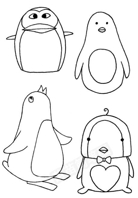青蛙简笔画图片大全_企鹅怎么画简笔画图解