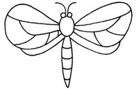 蜻蜓怎么画简笔画图解