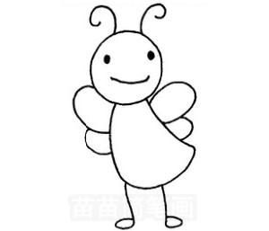 蜜蜂怎么画简笔画图解