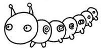 毛毛虫怎么画简笔画图解