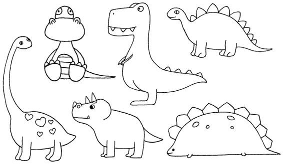 恐龙怎么画简笔画图解