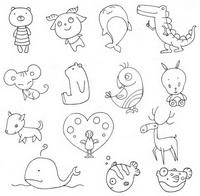 动物小图简笔画图片