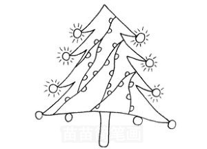 松树怎么画简笔画图解