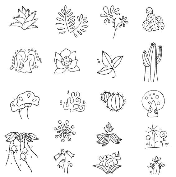 植物小图简笔画图片